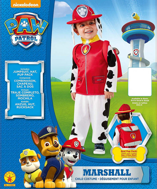 Rubie's Official Marshall Paw Patrol Fancy Dress Children's Costume, 117 cm - Small
