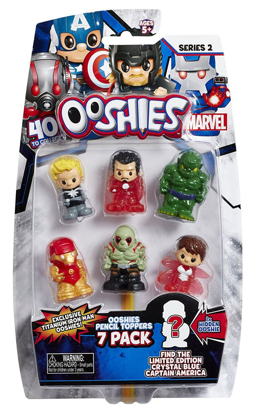 Ooshies 76605 Wave 2 Mix 3 Marvel Figure (Pack of 7)