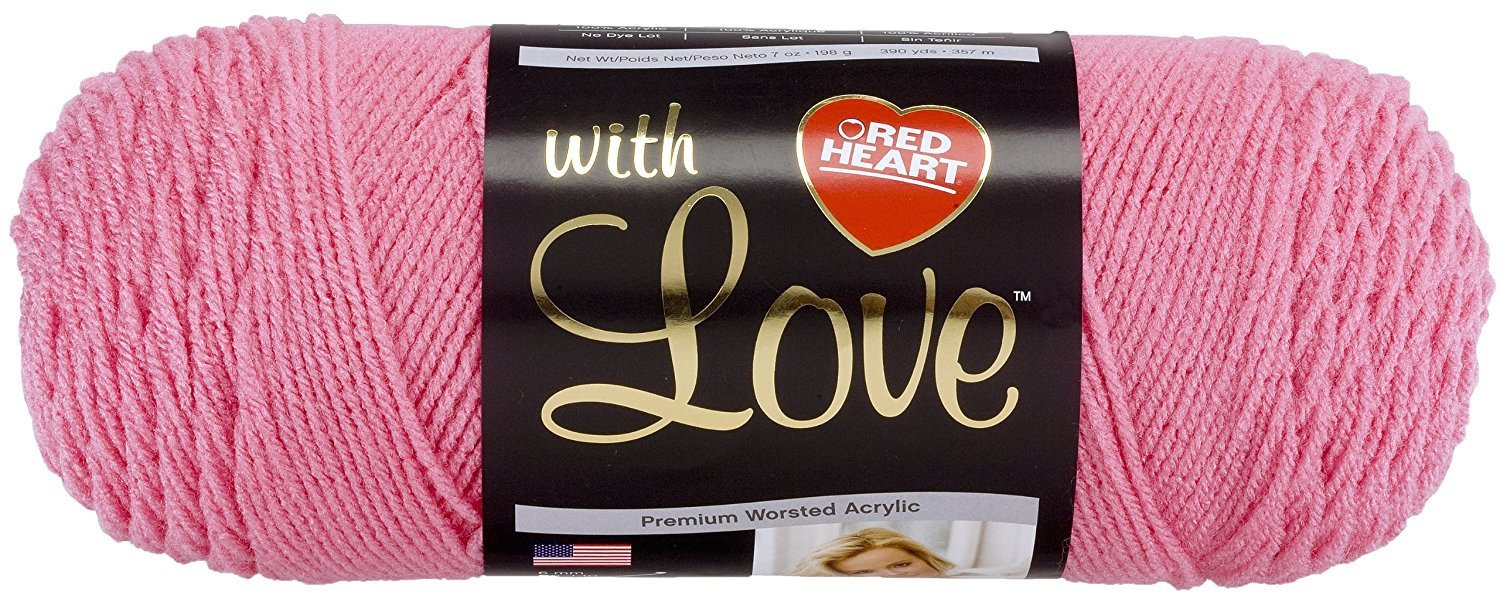Coats Yarn Red Heart With Love Yarn-Bubble Gum,  Other,  Multicoloured