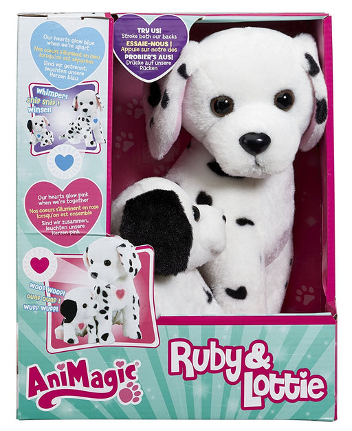 Vivid Imaginations Ruby and Lottie Dalmation Dog and Puppy Soft Toy (Multi-Colour)