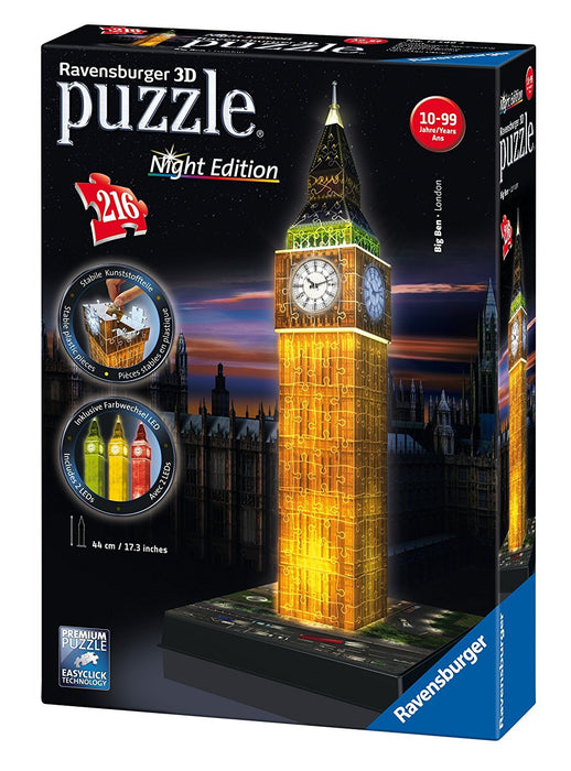 Ravensburger Big Ben - Night Edition, 216pc 3D Jigsaw Puzzle®