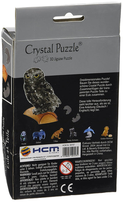Eule 42 Teile Puzzles & Geduldspiele 3D Crystal Puzzle