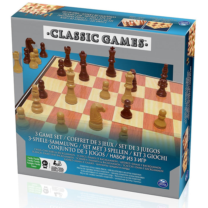 "Spinmaster 6033198 ""Chess/Checkers and Backgammon"" Game"
