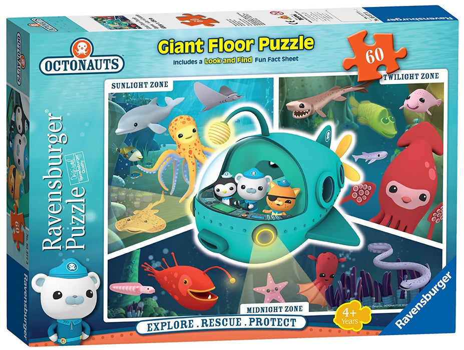 Ravensburger Octonauts, 60pc Giant Floor Jigsaw Puzzle