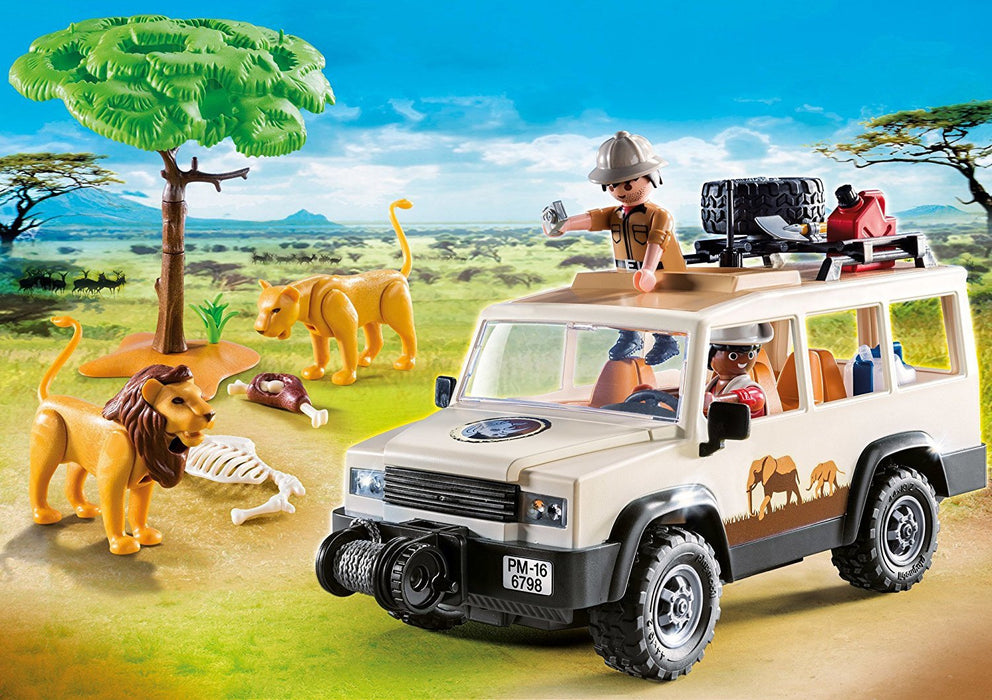 Playmobil 6798 African Wildlife Safari Truck with Lions
