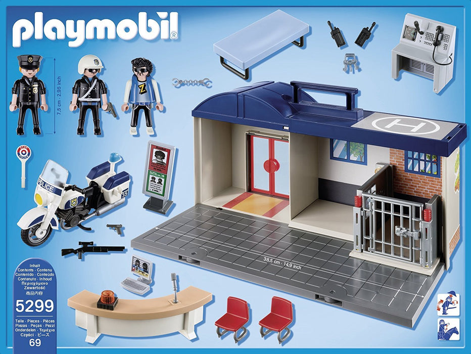 Playmobil 5299 City Action Take Along Police Station