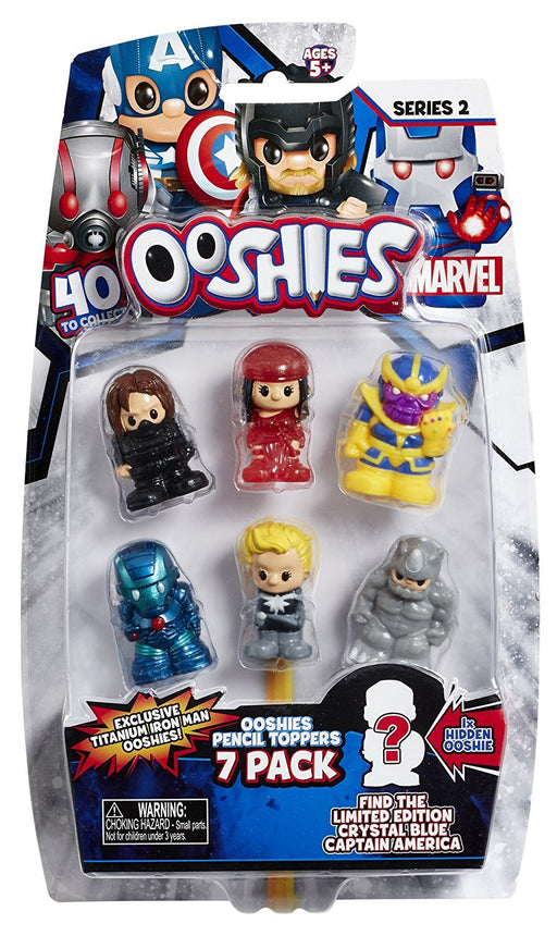 Ooshies 76603 Wave 2 Mix 1 Marvel Figure (Pack of 7)