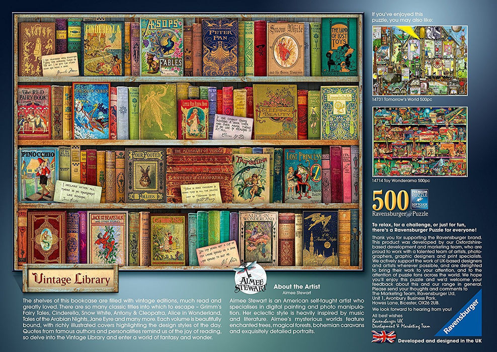 Ravensburger Vintage Library 500pc Jigsaw Puzzle