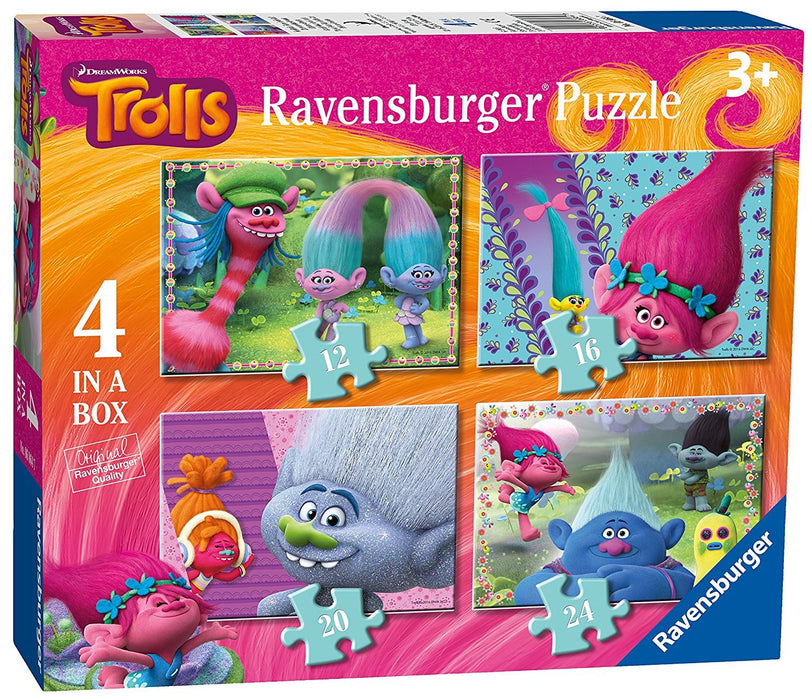Ravensburger Trolls 4 in a box (12, 16, 20, 24pc) Jigsaw Puzzles