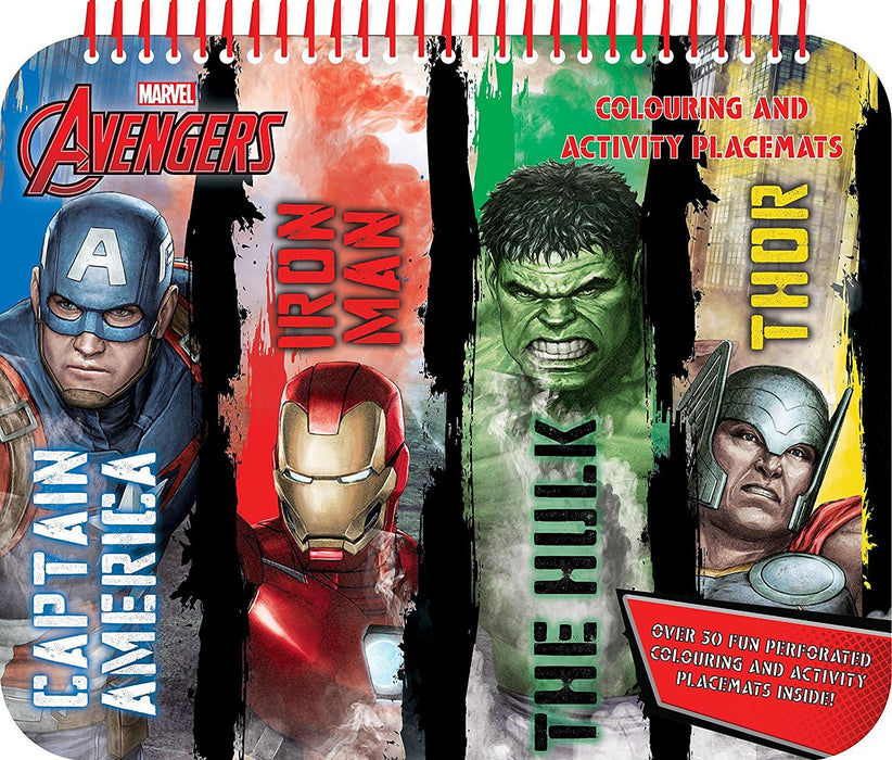 Anker AVPLM1 Avengers Classic Colouring and Activity Placemat