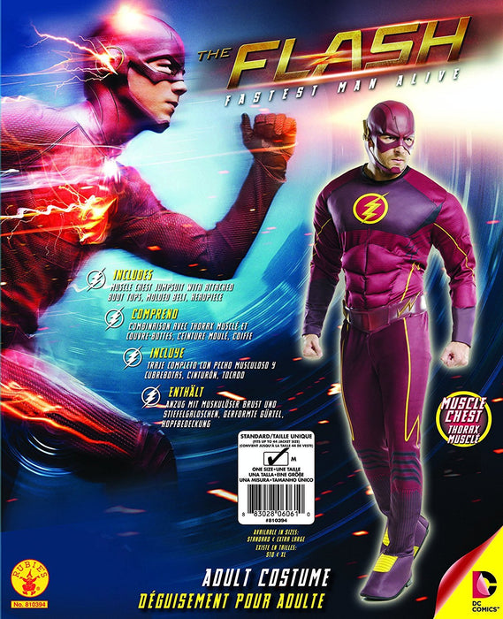 Rubie's Official DC Comics The Flash Deluxe, Adult Costume - Standard Size