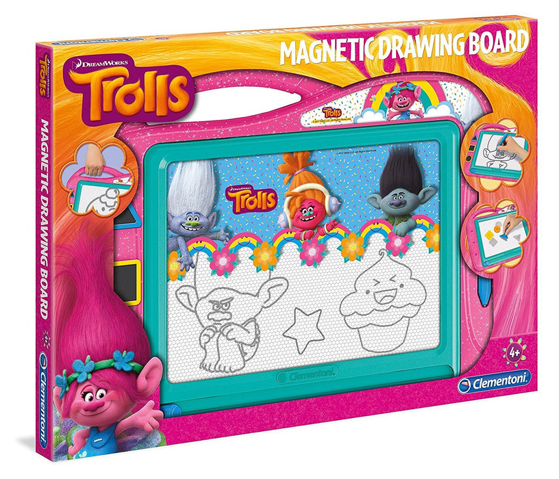 Clementoni 15167 Trolls Magnetic Drawing Board