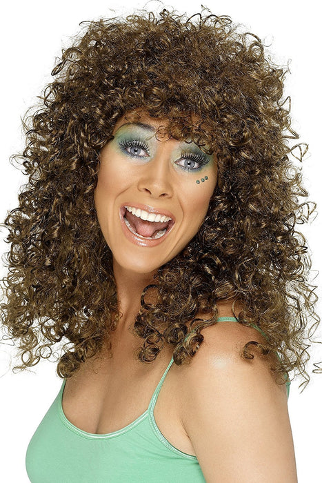 Smiffy's Boogie Babe Wig - Brown