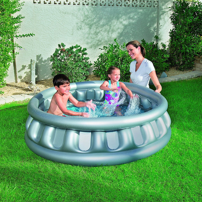 Bestway Spaceship Paddling Pool - Grey