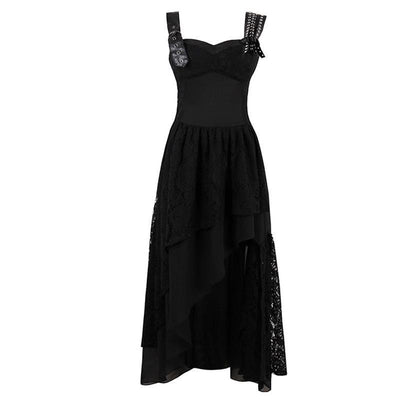 Rosetta's Asymmetric Black Dress