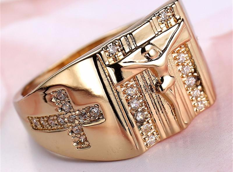 Signet Crucified Ring
