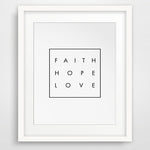 FAITH - LOVE - HOPE