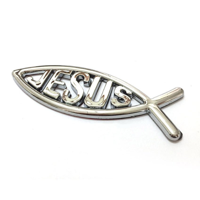 Jesus Emblem Car Sticker
