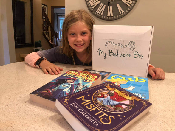 Monthly subscription book club for kids. Enjoy reading the books and then return for your next box. Purchase any books you love and want to keep.