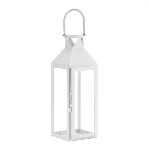 White Manhatten Candle Lantern