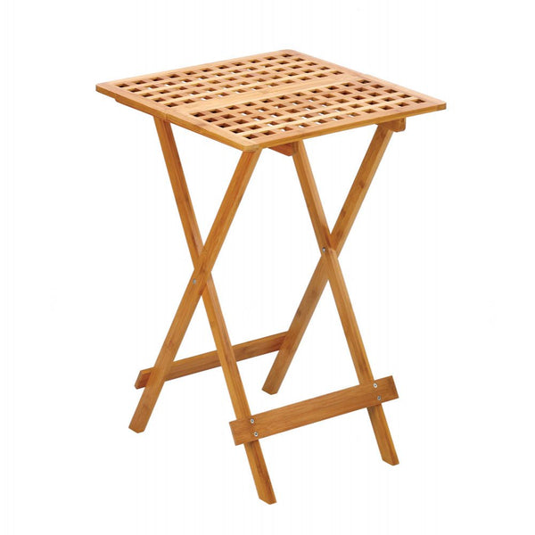 Bamboo Wood Folding Tray Table