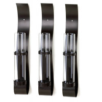 Modern Black Wall Vases Set
