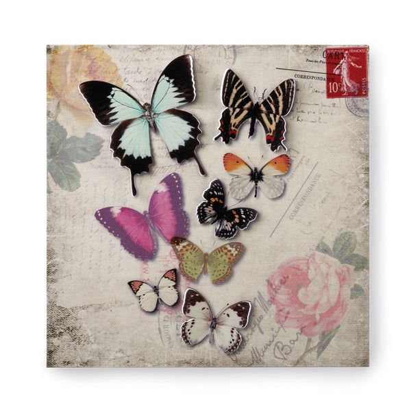 Stamp Butterfly Tin Wall Art