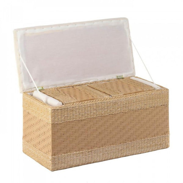 Woven Natural Nesting Storage Trunks