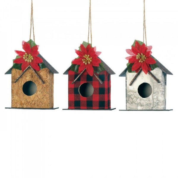 Little Birdhouse Ornament Set