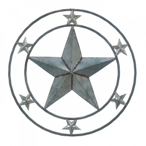 Galvanized Star Wall Dcor