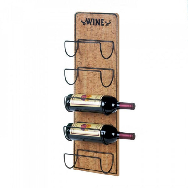 Rustic Wine Sign Bottle Holder