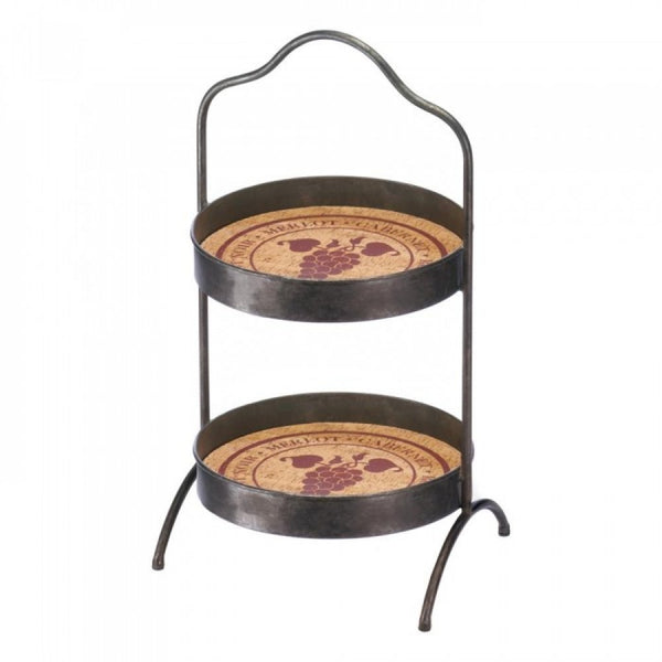 Vineyard 2-tier Standing Tray