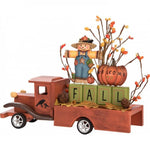 Fall Wooden Truck Decoration