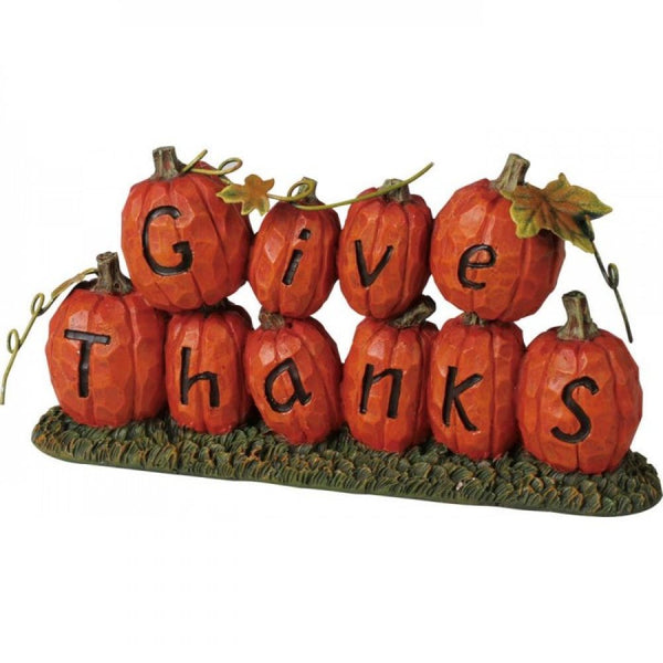Give Thanks Pumpkin Decoration