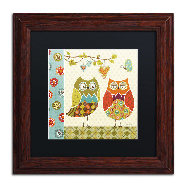 Trademark Fine Art Owl Wonderful I Wood Finish Framed Wall Art