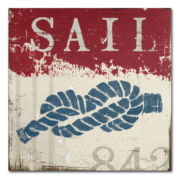 "Trademark Fine Art Wellington Studio ""Nautical III Red"" Canvas Wall Art"