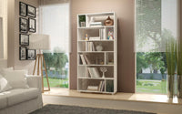 74AMC6 Maringa 12-Shelf Bookcase in White