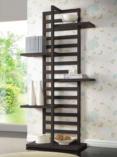 92091 Mileta Bookcase in Cappuccino