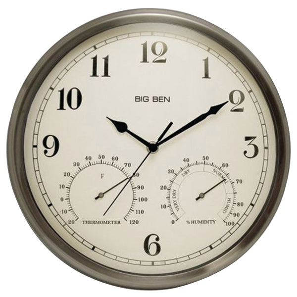 Westclox Indoor And Outdoor Clock With Temperature & Humidity Gauges