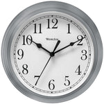 "Westclox 9"" Decorative Wall Clock (gray)"