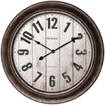 "Westclox 15.5"" Wall Clock With Antique Bronze Finish"