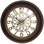 "Westclox 22.75"" Wall Clock With Antique Bronze & Gold Finish"