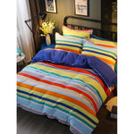 Rainbow Color Striped Bedding Set