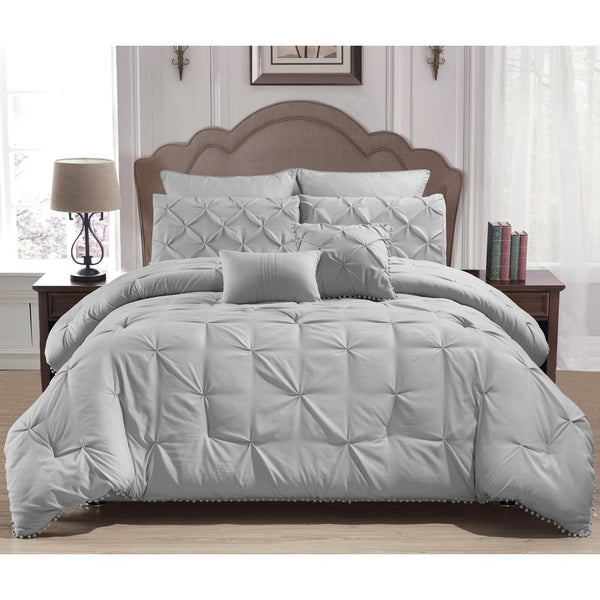 Esmalinda 7 Piece Queen Comforter Set /Grey