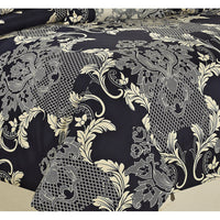 8 Piece PHARLEY Printing New Designs Comforter Set Queen King CalKing Size In Navy Color