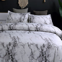 Brief Marble Lines Bedding Set Single AU EU Double Full Queen King 6 Size Duvet Cover With Pillowcase Set