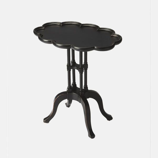 Oval Accent Table Black Licorice Finish