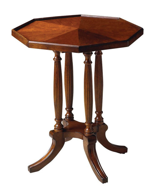 Butler Home Decorative Accent Adolphus Plantation Cherry Octagonal Accent Table - Dark Brown