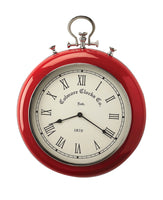 Butler Home Decor Scarlet Red and Nickel Finish Wall Clock - Red