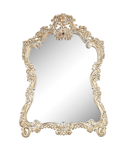 Sterling Regence Composite Frame Wall Decorative Mirror in Belgian Cream